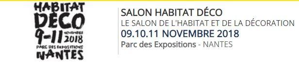 Hase présent au Salon Habitat Déco de Nantes (44) – 9 au 11 novembre 2018