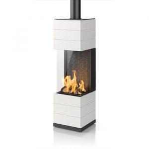 Poêle à gaz - Zafra - finition céramique - couleur : Alabaster
