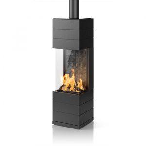 Poêle à gaz - Zafra - finition céramique - couleur : céramique